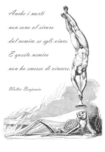 Rappresentazione allegorica della resurrezione Louis Schiavonetti su originale di William Blake, Londra 1808 Citazione di Walter Benjamin